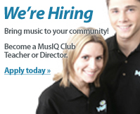 Bring music to your community. Become a MusIQ Club Teacher or Director